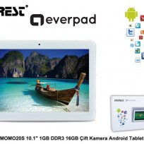 """EVEREST EVERPAD MOMO20S 10.1""""/1.2GHZ/1GB/16GB/AND.BLUTOOTH WIFI 0.3MP/2MP BEYAZ TABLET"""
